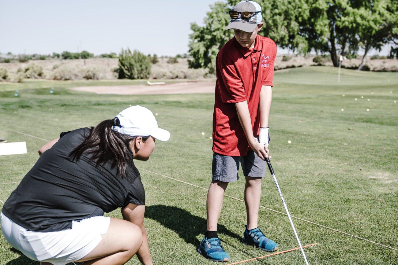 Træning af nybegynder i golf
